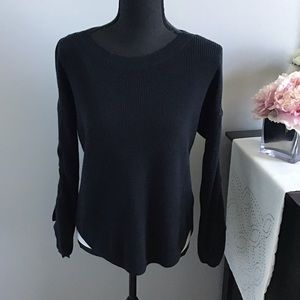 Express rouched sleeve sweater